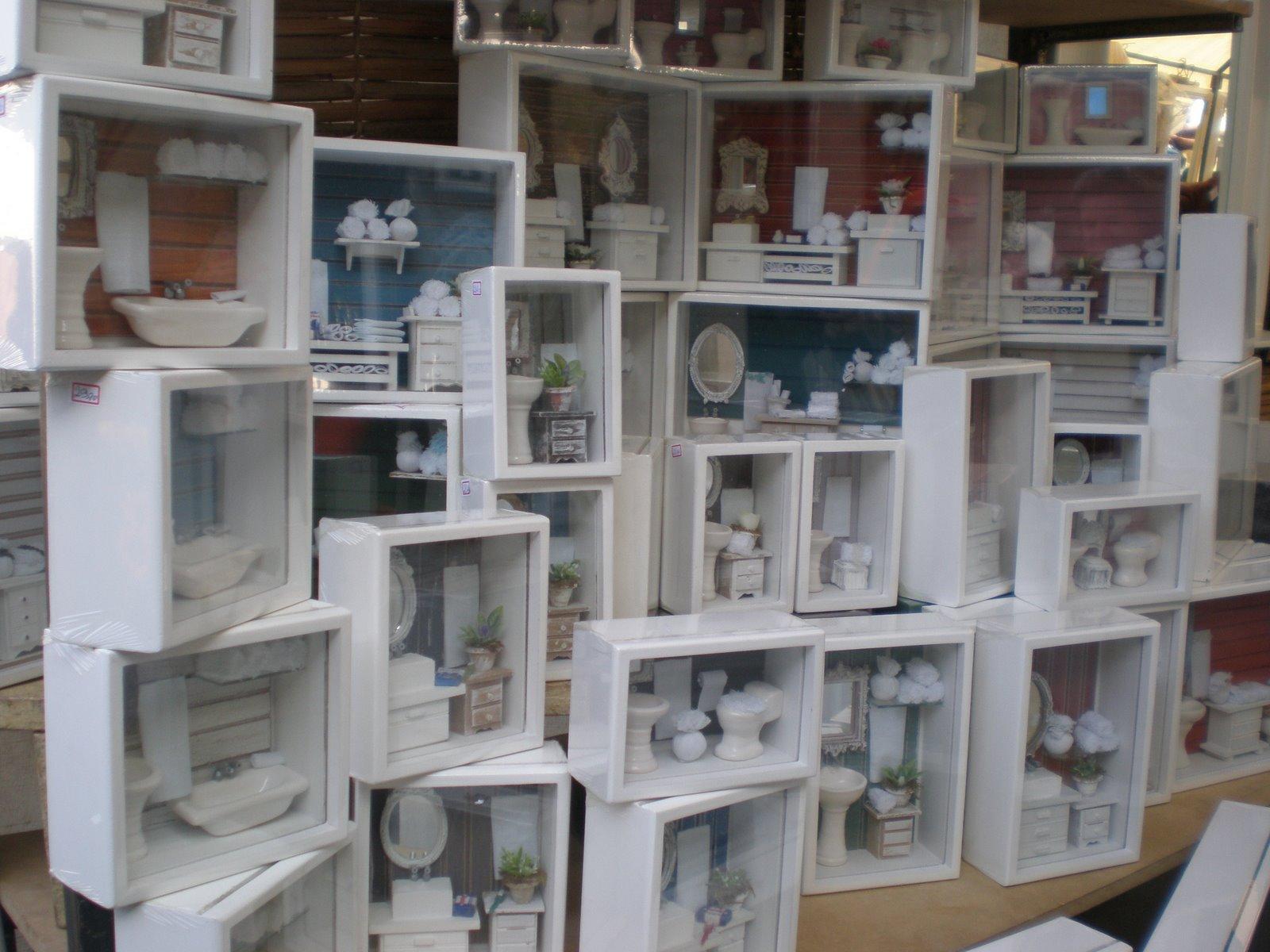Quadrinhos em miniatura adereços provence vasos… ai adorei! (E  #695E4E 1600x1200 Acessorios Banheiro 25 De Março