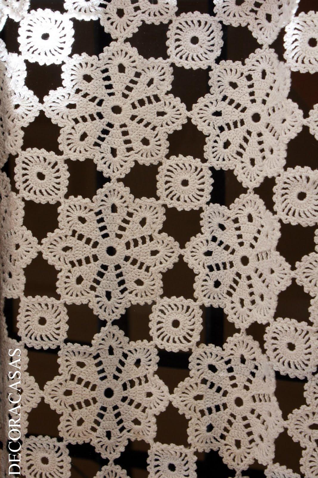 cortina de crochê  DECORACASA  Flávia Ferrari